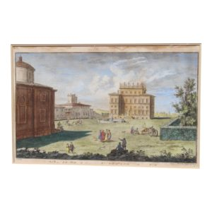 DIMENSIONS: 33ʺW × 5ʺD × 29.5ʺH STYLES: Neoclassical ART SUBJECT: Architecture PERIOD: Early 19th Century ITEM TYPE: Vintage, Antique or Pre-owned MATERIALS: Engraving CONDITION: Good Condition, Original Design Modified, Some Imperfections TEAR SHEET CONDITION NOTES: good . the frame has chips etc