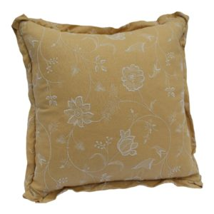 1960s-mid-century-modern-mustard-yellow-down-pillow-with-white-floral-embroidery-3939