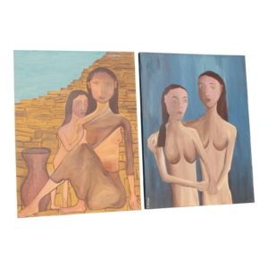 1960s-vintage-mid-century-modern-two-women-oil-paintings-a-pair-7820