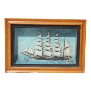 19th-c-antique-american-sailing-ship-painting-9536