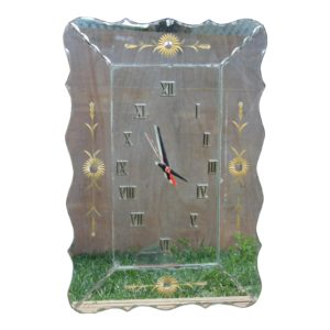 mid-20th-c-italian-or-american-hollywood-regency-mirrored-glass-and-guiled-wall-clock-8083