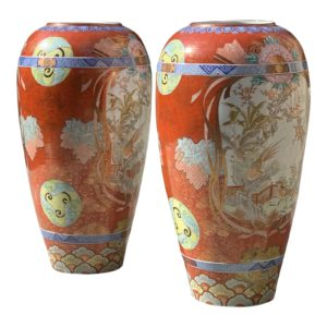 monumental-antique-japanese-kutani-vases