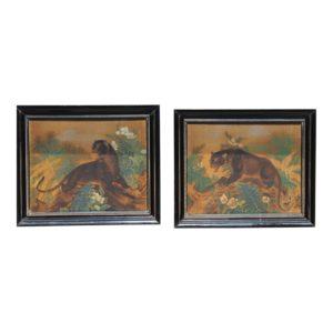 nice-pr-of-art-deco-cat-paintings-a-pair-2578