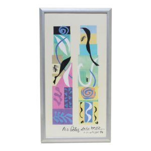 20th-century-modern-matisse-poster-with-brushed-silver-frame-0494