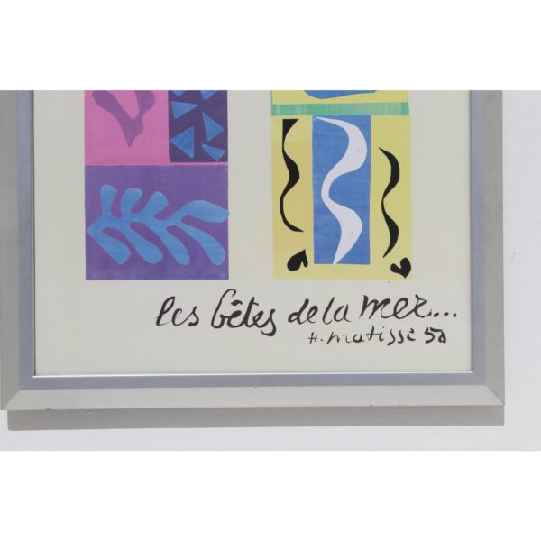 20th-century-modern-matisse-poster-with-brushed-silver-frame-2419