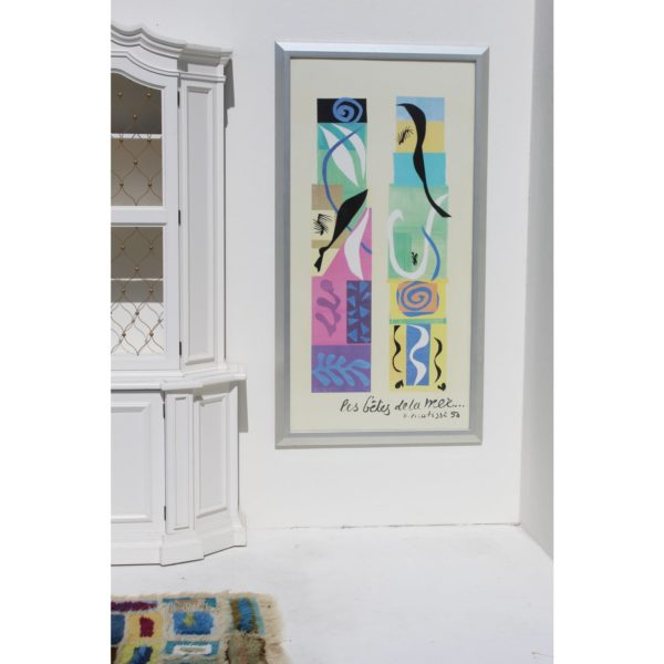 20th-century-modern-matisse-poster-with-brushed-silver-frame-6768