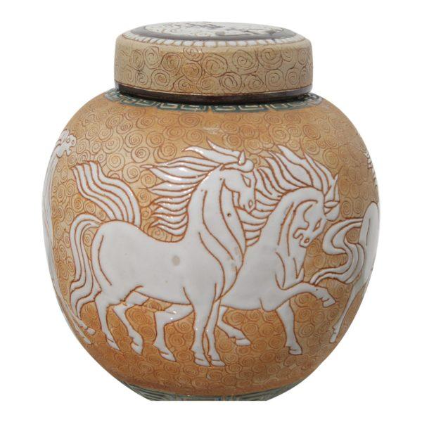 chinese-art-deco-prancing-horses-motif-porcelain-covered-jar-or-urn-3832