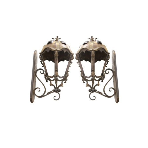 metal-and-copper-sconces-handcrafted-from-budapest-with-turtle-back-top-a-pair-2097