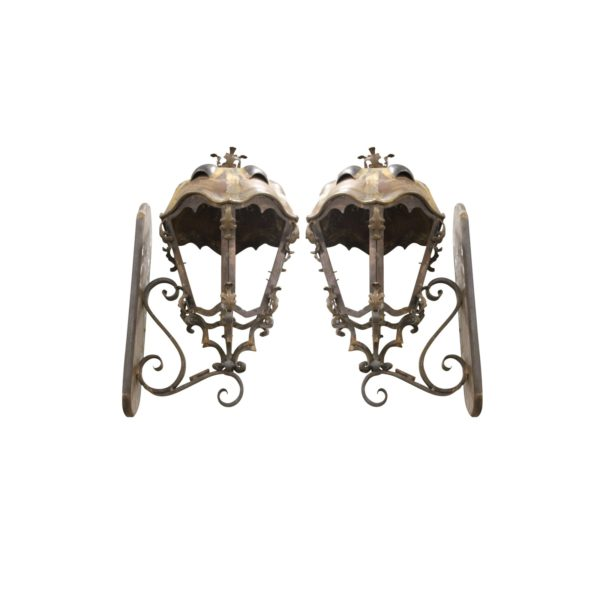 metal-and-copper-sconces-handcrafted-from-budapest-with-turtle-back-top-a-pair-9335