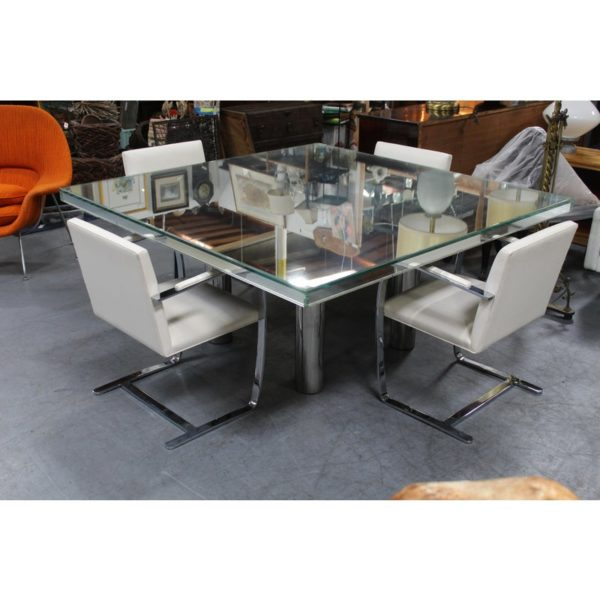 mid-century-hollywood-style-glass-mirror-dining-table-4539