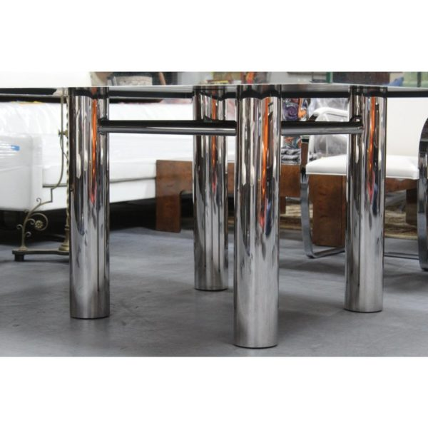 mid-century-hollywood-style-glass-mirror-dining-table-9297