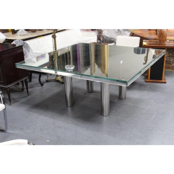 mid-century-hollywood-style-glass-mirror-dining-table-9898