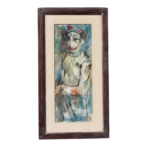 DIMENSIONS: 12ʺW × 2ʺD × 26ʺH STYLES: Folk Art, Modern ART SUBJECT: Abstract, Figure PERIOD: 1950s PLACE OF ORIGIN: Canada ITEM TYPE: Vintage, Antique or Pre-owned MATERIALS: Oil Paint, Wood CONDITION: Very Good Condition, Original Condition Unaltered, No Imperfections TEAR SHEET CONDITION NOTES: Good