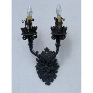 1920s Italian Wrought Iron Sconce