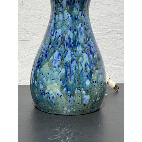 1960s Mid Century Blue Ceramic Lamps- A Pair