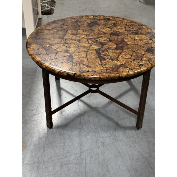 2000s Kreiss Coconut Shell Cocktail Table
