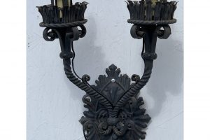 1920s Italian Wrought Iron Sconce