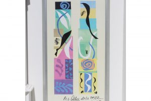 20th-century-modern-matisse-poster-with-brushed-silver-frame-2241