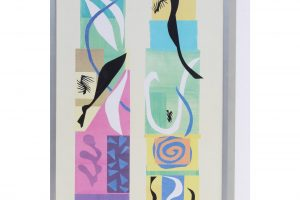 20th-century-modern-matisse-poster-with-brushed-silver-frame-2509