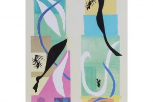 20th-century-modern-matisse-poster-with-brushed-silver-frame-8587