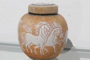 chinese-art-deco-prancing-horses-motif-porcelain-covered-jar-or-urn-8488