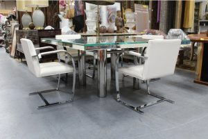 mid-century-hollywood-style-glass-mirror-dining-table-4134